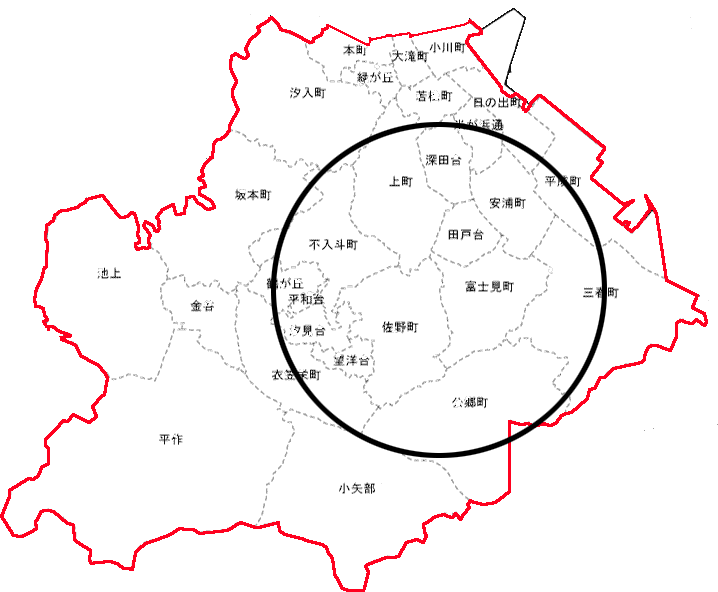 配達エリア(横須賀市:灯油)