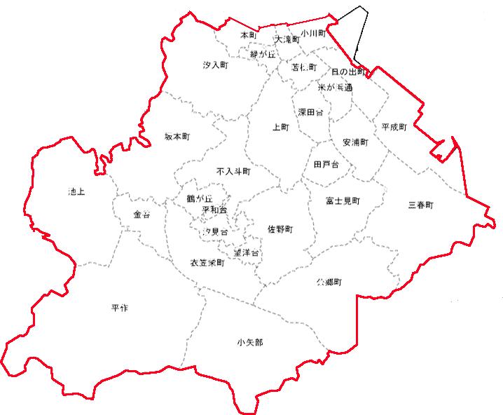 配達エリア(横須賀市)